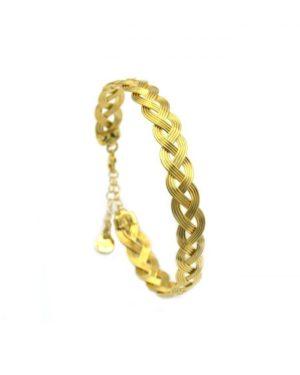 bracelet,cheryl, tresse,pépietbijoux,or