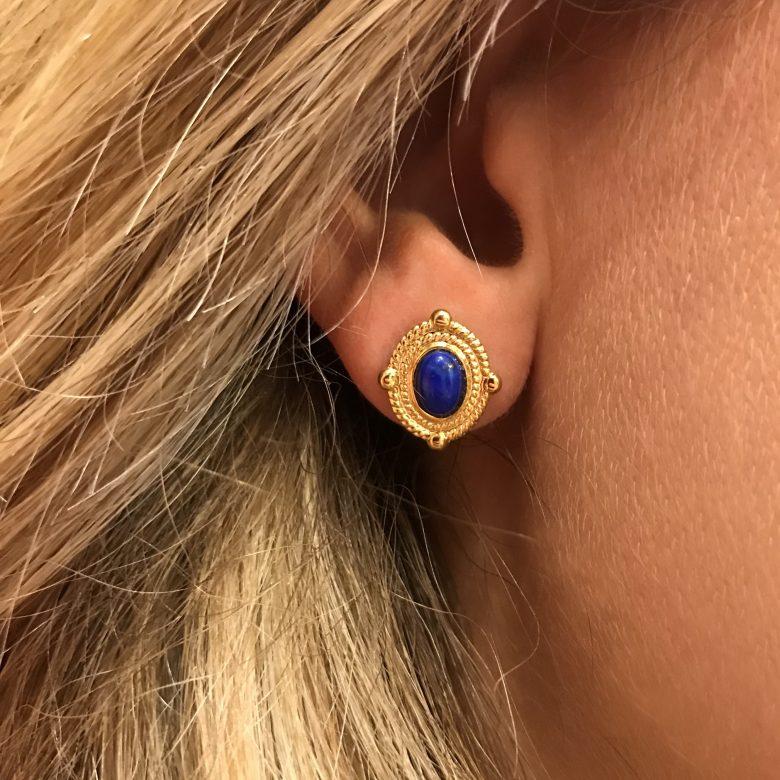 Puces Pénélope or Lapis lazuli photo porté
